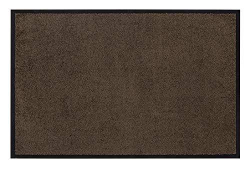 andiamo Eingangsbereich in/Outdoor – Rutschhemmend Waschbar Fußmatte, Polyamid, Teak, BRAUN, 40 x 60 cm