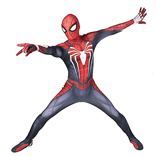 NVHAIM Spider-Man Cosplay Costume Spiderman Unisex Jumpsuit Superhéroe Halloween Cosplay Onesies Spandex 3D Imprimir Spider Man Hombre,Men M
