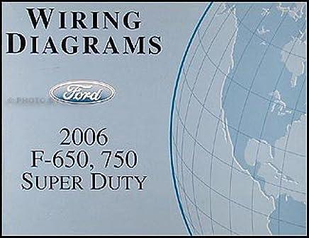 2006 ford f650-f750 medium truck wiring diagram manual original paperback –  2006