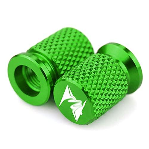 Z Válvula de neumático de neumático de la motocicleta Válvula de neumático de la válvula de aire de la cubierta del vástago de la tapa del tallo CNC verde CNC Aluminio / Ajuste para Kawasaki Z400 Z800