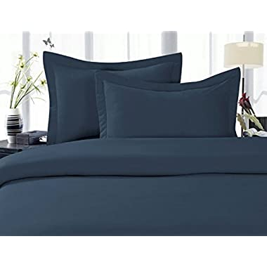 Elegant Comfort 1500 Thread Count Wrinkle,Fade and Stain Resistant 4-Piece Bed Sheet set, Deep Pocket, HypoAllergenic - King Navy Blue
