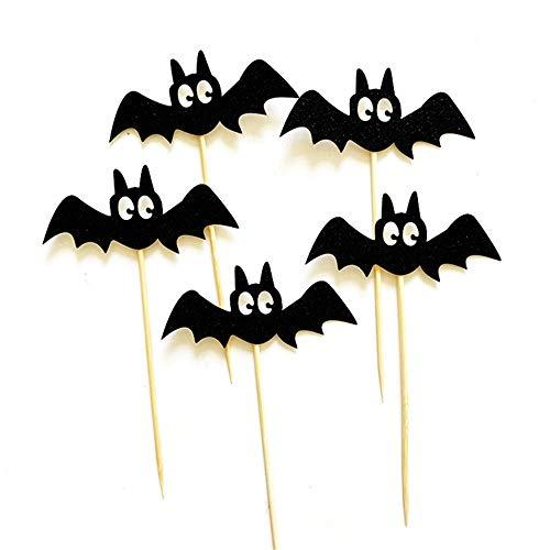 XJIUER Halloween Dekoration 5 Teile/Paket Ghost Cat Halloween Kuchendeckel Cupcake Karte Kreative Dessert Kuchen Flagge Halloween Party Dekoration Lieferungen V