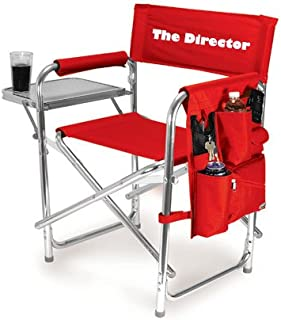 Personalized Embroidered Sports Director Chair with Side Table and Pocket