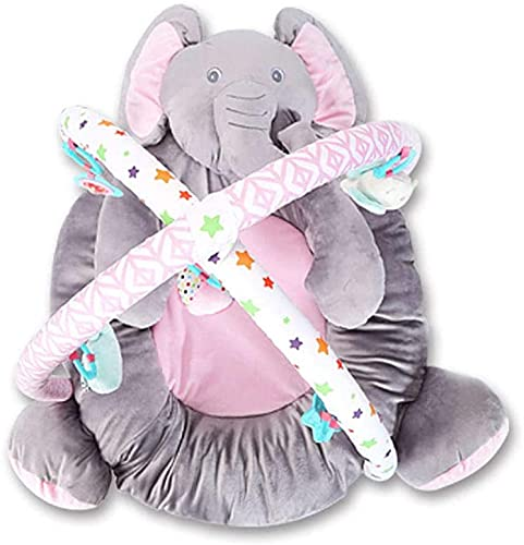 Super Soft Newborn Cosy Gym Baby Play Mat Plush Elephant Comfortable Bed with Music and Bell Ornaments Baby Rattle Toy Jialele