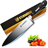 Chef Knife - Pro Kitchen Knife 8 Inch German 5Cr15Mov Stainless Steel Chefs knife with Finger...
