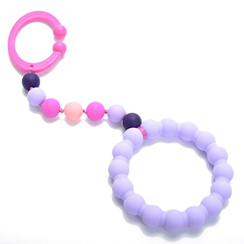 Chewbeads - Gramercy Baby Teething Toy- Car Seat Teether & Stroller Toy - Silicone Teething Ring for Infants, Babies & Toddlers - Medical Grade Silicone, BPA Free & Phthalate Free (Violet)