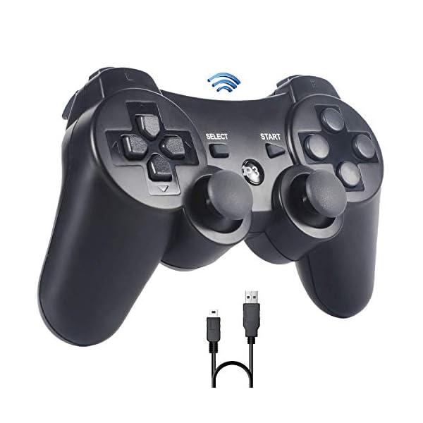 Sefitopher-Manette-PS3-Manette-sans-Fil-pour-Playstation-3-Bluetooth-Manette-avec-Double-Vibration-Tlcommande-Cble-de-Recharge