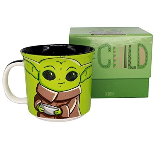 Caneca Baby Yoda Cerâmica Oficial Star Wars The Mandalorian