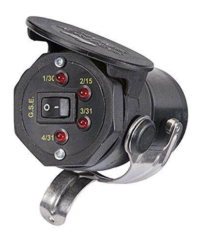 HELLA 8PD 004 508-031 Prüfgerät, Prüfstecker Anhängersteckdose, 24 V, zur Prüfung von ABS-Steckdosen, 110 mm Länge, schwarz