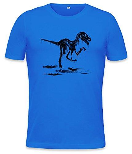 Utah Raptor Skeleton Mens T-shirt Small