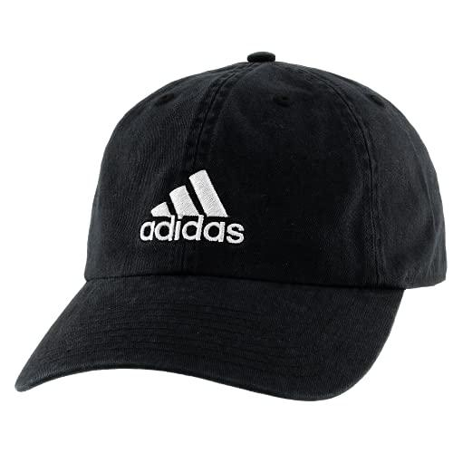 adidas Gorra de algodón Ajustable para Hombre, Hombre, Sombrero, 104415, Negro/Blanco, Talla única