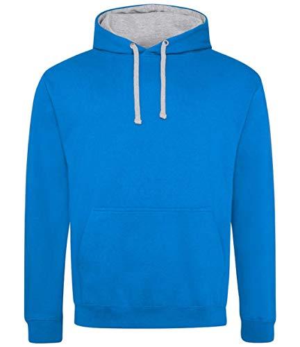 Cotton Ridge AWDis Varsity Hoodie : Color - Sapphire : Size - L