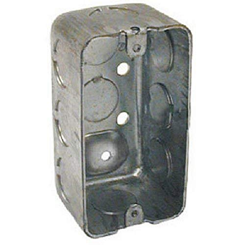 Hubbell-Raco 8660 1-7/8-Inch Deep, 1/2-Inch End Knockouts, Drawn 4-Inch by 2-Inch Handy Box