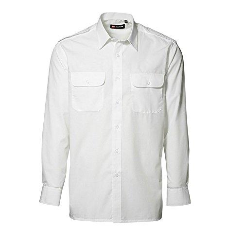 D.I.D ID Herren Classic Uniform-Hemd, langärmlig (41/42) (Weiß)