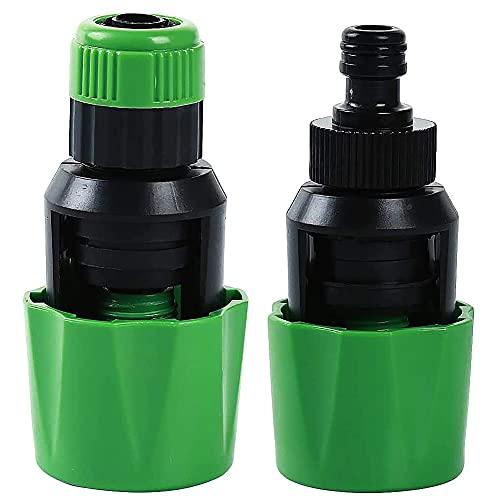 Lacotis Conector de Manguera de Grifo Adaptador, 2 Piezas Universal Ajustable Conector de Manguera, Adaptador de Grifo, Plástico Conector de Manguera de Jardín, Conexión Rápida de Riego