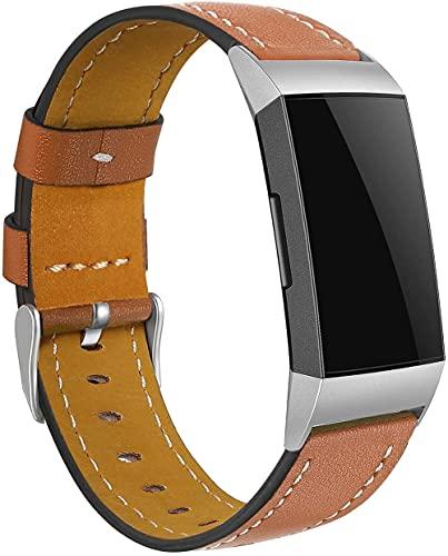 Genuinos Correas de Reloj Compatible con Fitbit Charge 4 / Charge 4 SE/Charge 3 SE/Charge 3, Cuero de Liberación Rápida Correa de Reloj (Pattern 2)