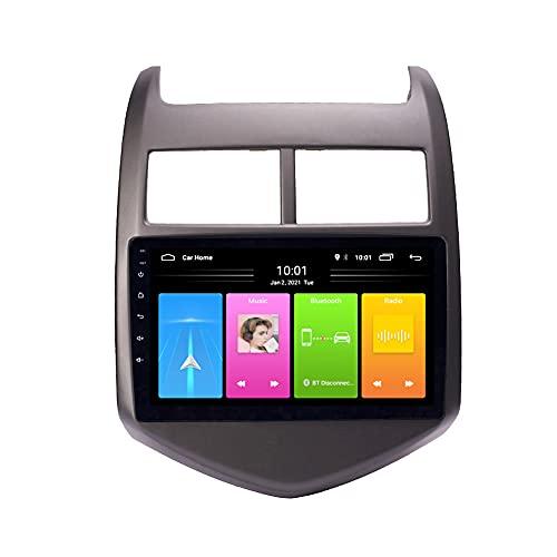 Kilcvt Navegación GPS, 9 in/Android 10 Reproductor Multimedia para Automóvil, para Chevrolet Aveo 2011-2013 Soporte Control del Volante/WiFi/USB/Dvr/Bluetooth,WiFi 2g+32g