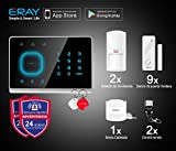 ERAY M2G Sistema de Alarma gsm, Antirrobo, Inalámbrica, Antimanipulación, 99 Zonas, Voz y...