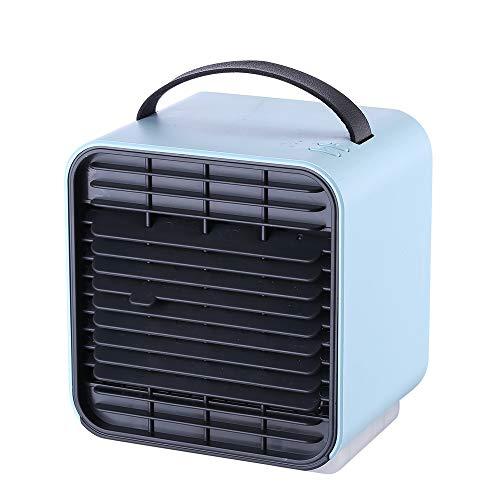 Kaper Go Ventilador De Aire Acondicionado De Ión Negativo PM2.5 Ventilador De Mesa Limpio Conveniente Silencioso Ventilación Luz De Aire Acondicionado Ventilador Nocturno (Color : Blue)