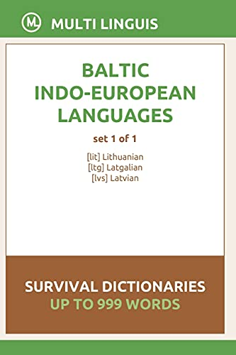 Compare Textbook Prices for Baltic Languages Survival Dictionaries Set 1 of 1  ISBN 9798748213981 by Linguis, Multi