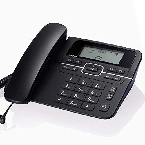 Vast, Draadloze Telefoon Met, Hinder Call Blocker En Digitaal Antwoordapparaat, Vaste Telefoon Vaste Telefoon Elegante Zwarte Dubbele-interface Kantoor Business Vaste Lijn (Color : Black)