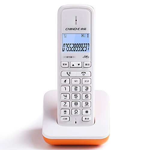 verizon cordless phones Phone Digital Cordless, Home Business Office Wireless landline, Chinese Button and menu Display Fyxd (Color : Orange)