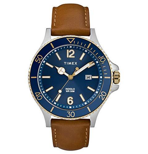 Timex TW2R64500 Herren-Armbanduhr Analog Quarz Leder