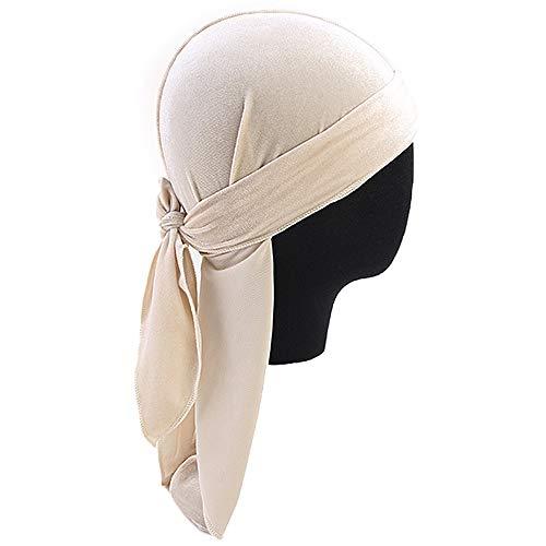 Sfit Bequemer Luxus Samt Schal Cap Piratenhut Long Tail Durag Chemo Caps Muslim Turban