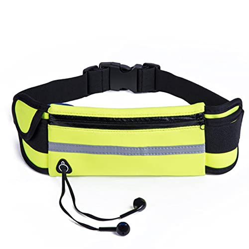 Shawari Mujer Cinturón de Cintura Impermeable Hombre Bolsa para Correr con Soporte para Botella para Maratón Jogging Teléfono Teclas Bolsa Bolsa para Correr