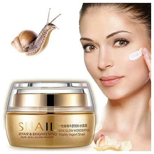 1/2 caja de crema para blanquear la cara de caracol Natural antiarrugas Cuidado de la piel Ilumina día y noche La mejor crema hidratante para pieles sensibles (1)