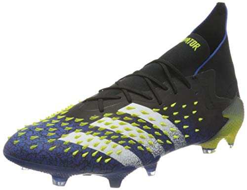 adidas Herren Predator Freak .1 FG Soccer Shoe, Core Black/Cloud White/Solar Yellow, 45 1/3 EU