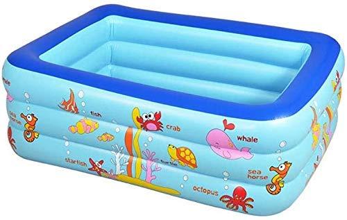 SYue Swimmingpool, aufblasbarer Familienpool, Babybadewanne, geeignet für Gartengarten im Freien , 150 * 110 * 50CM