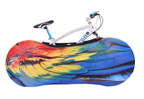 FLXUBAG Bike Cover Washable Elastic Dirt-Free Bike Storage Wheel Cover Tire Package Fit All Bicycles (B)