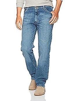 Wrangler Authentics Men s Classic 5-Pocket Regular Fit Jean Vintage Blue Flex 40W x 29L