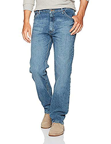 Wrangler Authentics Men's Classic 5-Pocket Regular Fit Jean, Vintage Blue Flex, 36W x 32L