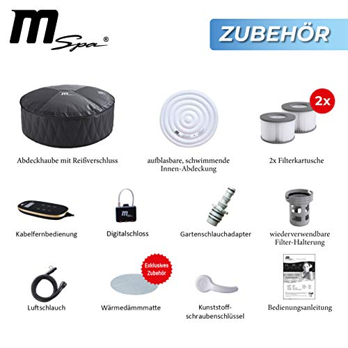 Miweba MSpa Premium Mont Blanc P-MB06 aufblasbarer Whirlpool - Bild 9