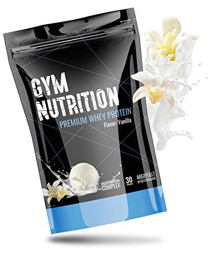 Premium Whey Protein - Eiweiß-pulver - Für den Muskelaufbau - Laborgeprüft - In Deutschland abgefüllt - Mit Ernährungsprofis entwickelt - 30 Portionen - Mit EAAs und BCAAs (Delicious Vanilla)