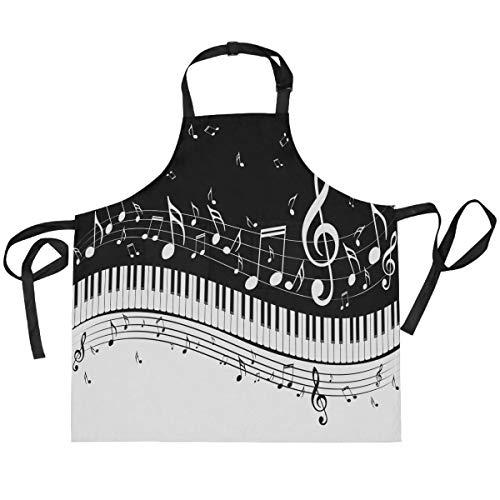 Alarge - Delantal vintage con correa para el cuello ajustable con 2 bolsillos para cocina, cocina, jardinería, para mujeres, hombres, chef y camarera
