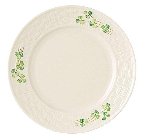 Belleek Group Shamrock Salad Plate, 8.8-Inch, White