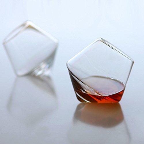 Cupa Rocks Hand Blown Glass Set of 2 Warms Beverage Custom Kitchen Glassware
