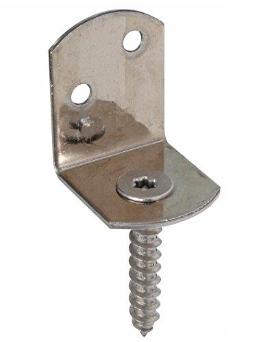GAH-Alberts 213275 Flechtzaunhalter L-Form, Edelstahl, 30 x 32 x 38 mm, 80 Stück