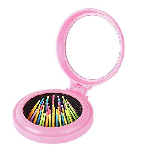 Fliyeong Mujeres Niñas Maquillaje Airbag Cepillo de Pelo con Espejo Herramienta de...
