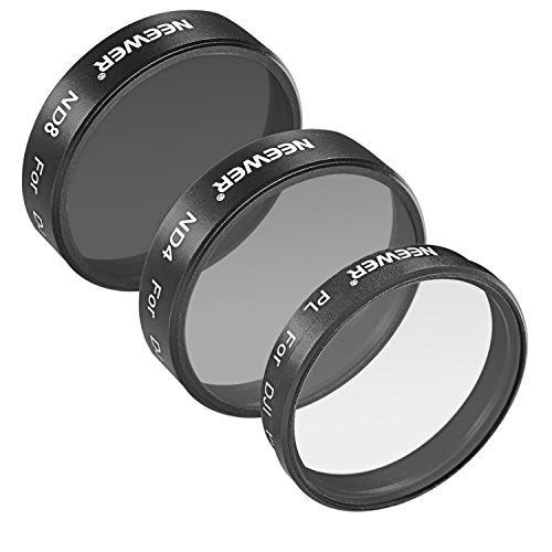 Neewer® para dji Phantom 3Profesional y Avanzado, 3Piezas Juego de filtros: (1) Filtro Polarizador Filtro + (1) ND4Filtro + (1) ND8Filtro, no para dji Phantom 3estándar.