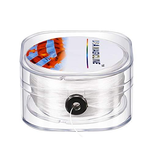 INTVN 0.3mm Weiß Transparent Spule Elastisch Schmuckfaden Gummifaden, Faden Modische und Praktische Schmuckdrahte, für Perlenschmuck Armbänder Basteln DIY Schmuckherstellung