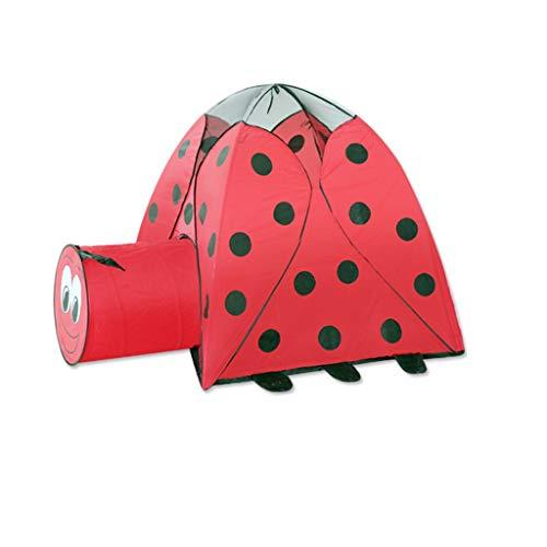 CSQ Tienda Roja Mariquita con el rastreo de pasajes, Camping Juego de la Tienda Tienda del Juego for los niños, Padres e Hijos la Tienda del Juego - Playhouse Casa de Juegos para niños