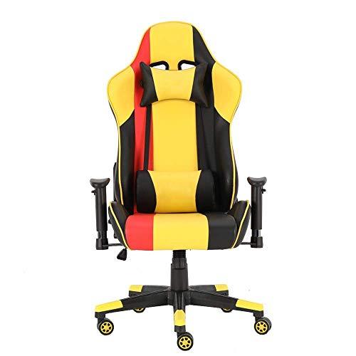 DONDOW. Sedia da Ufficio Gaming Sedia da Ufficio Computer Desk Chair Presidenza di Cuoio Che corre con Schienale Alto PU (Colore: Foto a Colori, Dimensione: 70X70X125CM)