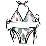 Bikini Trajes de baño Desert Botanic Herbal Cartoon Like Cactus Plant Flower con Pinchos Imprimir Bikini Sets Traje de baño Traje de baño