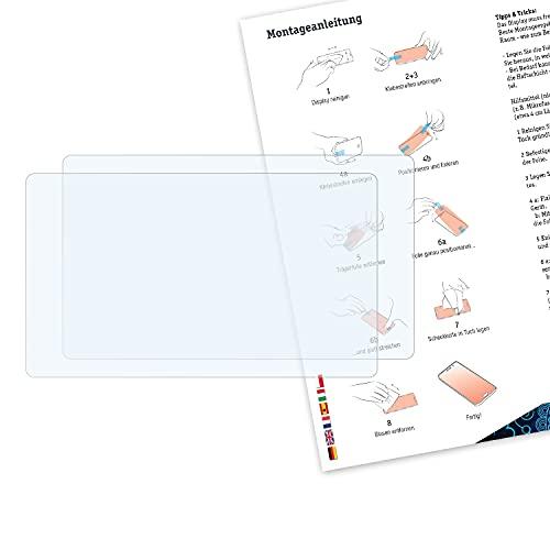Bruni Schutzfolie kompatibel mit Sony FDR-AX700 Folie, glasklare Displayschutzfolie (2X)
