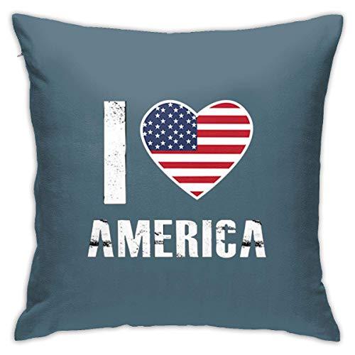 v-kook-v I Love America Proud American Sofa Bedroom Pillowcase 45cm45cm