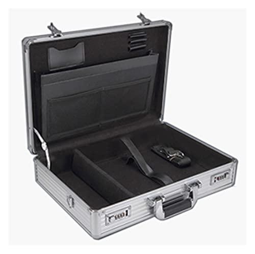 XIAOXIN OUXINDA Maleta de Herramientas de Aluminio Maleta de Herramientas Caja de Herramientas Caja de Archivos Caja de Archivo Resistente al Impacto Caja de Seguridad Caja de cámara 375x300x95mm